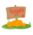 halloween party day poster vector image vector image