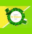 happy saint patricks day background with clover vector image vector image