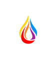 hot drop fire flame logo symbol icon design vector image vector image