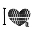 I love oil Symbol heart of barrels of oil vector image vector image