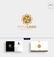 initial k luxury logo template and business card vector image