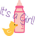 Its a Girl vector image