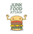 junk food attack vector image