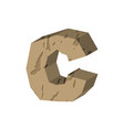 letter c stone font rock alphabet symbol stones vector image vector image