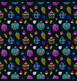 nice colorful seamless pattern with christmas toys vector image vector image