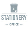 office stationery logo simple gray style vector image vector image