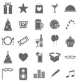 Party icons on white background vector image vector image