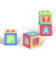 play cubes vector image