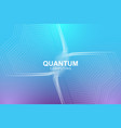 quantum computer technology concept deep learning vector image vector image