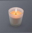 realistic candle an aromatic candle in a vector image