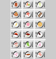 restaurant icon set suitable for info graphics vector image vector image