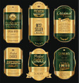 retro vintage golden frame background collection 5 vector image vector image