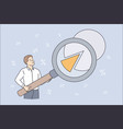 science statistics or project presentation concept vector image vector image
