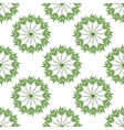 seamless pattern of green leaves on a white vector image vector image
