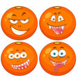 set of oranges with expressions vector image