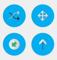 set of simple arrows icons elements up widen