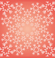 shining snow winter christmas snowflake decoration vector image vector image