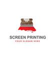 silk screen printing icon vector image