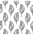 simple doodle leaves pattern in hand drawn style vector image vector image
