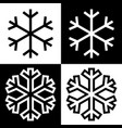 snowflake symbols icons simple black white set 8 vector image vector image
