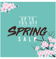 spring sale up to 70 off sakura background vector image