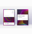 stylish cover design template set rainbow abstrac vector image vector image