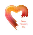 valentines heart liquid brush shape color vector image vector image