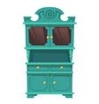vintage kitchen cupboard in baroque style vector image vector image