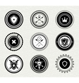Vintage retro protect badges and labels vector image