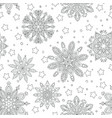 winter christmas graphic pattern witn detailed and vector image vector image
