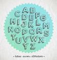 Hand drawn fonts vector image