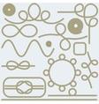 Rope hand lettering sea food restaurant menu vector image