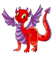 dragon purple wings vector image