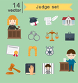 judge set vector image
