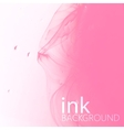 abstract background of pink fluid ink swirling in vector image