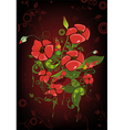 Abstract ornament with poppies vector image