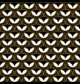 art deco geometric decorative with circles pattern vector image