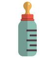 baby milk bottle icon flat isolated vector image