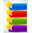 banner backgrounds with star shapes vector image vector image