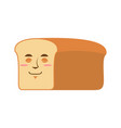 bread sleeping emoji piece of bread asleep vector image vector image
