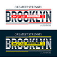 brooklyn united states style for t shirt vector image vector image