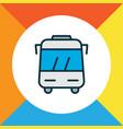 bus icon colored line symbol premium quality vector image vector image