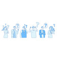 businessmen searching solution people hysteria vector image vector image