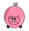 cartoon pig symbol icon design cute animal vector image vector image