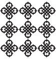 Celtic knots pattern vector image