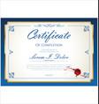 certificate 02 vector image vector image