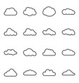 cloud web icons set simple symbols collection vector image vector image
