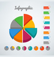 color pie chart infographic template template vector image