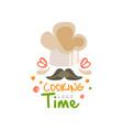 cooking time logo design kitchen emblem can be vector image vector image