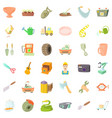 craft icons set cartoon style vector image vector image